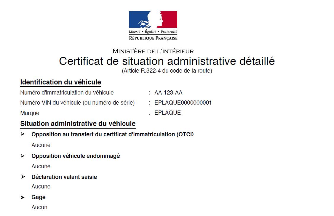 carte grise certificat de non gage Le certificat de non gage et l'immatriculation d'une voiture