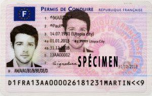Visuel permis de conduire